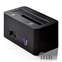 "ORICO 6619US3-BK Док-станция для HDD ORICO 6619US3; 1-bay 3.5""/2.5"" HDD 4TB Max (черный)"