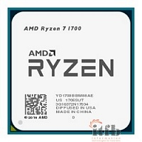 CPU AMD Ryzen Ryzen 7 1700 OEM {3.7GHz, 20MB, 65W, AM4}