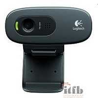 960-001063/960-000636 Logitech HD Webcam C270, USB 2.0, 1280*720, 3Mpix foto, Mic, Black