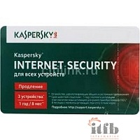 KL1941ROCFR Kaspersky Internet Security Multi-Device Russian Edition. 3-Device 1 year Renewal Card