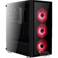 "Midi Tower AeroCool ""Quartz Red"" ATX 2.03,  без б/п 68934"