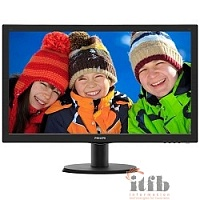 "LCD PHILIPS 23.6"" 243V5QHSBA (00/01) черный {VA LED 1920x1080 8ms 16:9 250cd 178гр/178гр D-Sub DVI HDMI}"