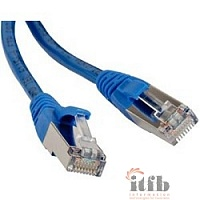 Hyperline PC-LPM-STP-RJ45-RJ45-C5e-1.5M-LSZH-BL Патч-корд F/­UTP, экранированный, Cat.5е, LSZH, 1.5 м, синий