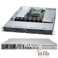 "Supermicro Superserver SYS-5019S-WR, Single SKT, WIO, C236 chipset, 4 x DIMMs, 4 x 3.5"" hot swap SATA3 bays, 2 x 1GbE, shared IPMI, 500W RPS"
