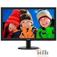 "LCD PHILIPS 23.6"" 243V5LSB (10/62) черный {TN, 1920x1080, 5 ms, 170/160, 10M:1, 5ms, 250cd/m, D-Sub}"