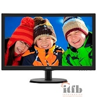 "LCD PHILIPS 21.5"" 223V5LHSB2 (00/01) черный {TN 1920x1080, 5ms, 90/65 200 cd/m2, 1000:1 (DCR 10M:1), D-Sub, HDMI}"