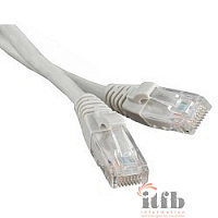 Hyperline PC-LPM-UTP-RJ45-RJ45-C6-1M-LSZH-GY Патч-корд U/UTP, Cat.6, LSZH, 1 м, серый