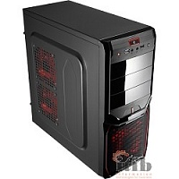 "Miditower Aerocool ""V3X Advanced Devil Red Edition"", ATX, черно-красный (без БП) EN57400"