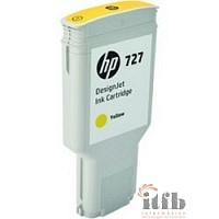 HP F9J78A Картридж HP №727, Yellow {DJ T920/T1500/2500/930/1530/2530 (300ml)}