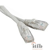 Hyperline PC-LPM-UTP-RJ45-RJ45-C5e-15M-LSZH-GY Патч-корд U/­UTP, Cat.5е, LSZH, 15 м, серый