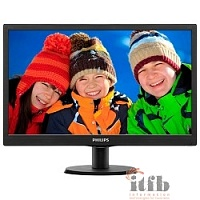 "LCD PHILIPS 19,5"" 203V5LSB26(10/62) черный {TN LED, 1600x900, 90/50, 1000000:1, 5ms, 200cd/m D-Sub}"